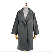 レディース カジュアル/普段着 冬 コート,ストリートファッション ピーターパンカラー ソリッド ロング コットン 長袖