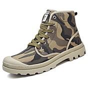 Hombre Cowboy / Western Boots Tela Otoño / Invierno Confort Botas Azul / Negro / blanco / Caqui