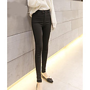 女性用 純色 ソリッドカラー レギンス