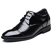 Hombre Zapatos PU Otoño Invierno Confort Zapatos formales Bailarinas Con Cordón Para Fiesta y Noche Negro