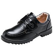 Chico Zapatos Cuero real Cuero Otoño Invierno Confort Zapatos de taco bajo y Slip-On Cierre Autoadherente Para Casual Vestido Negro