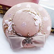Mujer Primavera/Otoño Invierno Sombrero Tradicional / Retro Moderno Elegante Sombreros Algodón Sombrero Playero,Sólido