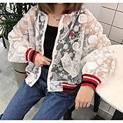 レディース 祝日 秋 ジャケット,ストリートファッション ラウンドネック カラーブロック レギュラー その他 長袖