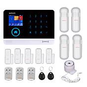 433MHz SMS Móvil Mando a Distancia Aplicación movil Teclado de panel Tarjeta RFID 433MHz GSM + WIFI Alarma de sonido Alarma telefónica