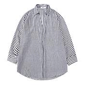 女性用 シャツ シャツカラー ストライプ コットン