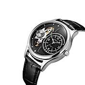 MEGIR Hombre Reloj Casual Reloj de Moda Reloj de Vestir Reloj de Pulsera Cuerda Automática Piel Banda Casual Cool