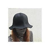 Mujer Otoño Vintage Tejido de Lana Sombrero Fedora,Sólido