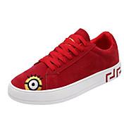 Hombre Zapatos Lino Primavera / Otoño Mocasín Zapatos de taco bajo y Slip-On Paseo Blanco / Negro / Rojo