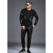 Hombre Casual Tiro Medio Rígido Pantalones Pantalones, Un Color Todas las Temporadas