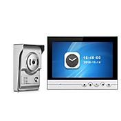 Sistema video del intercomunicador del teléfono de la puerta del monitor de grabación de color de 9 pulgadas con la cámara al aire libre