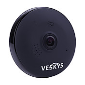 veskys® 960p lente de ojo de pez de 360 grados cámara ip inalámbrica casa inteligente wifi home wifi panorámico de 1.3mp