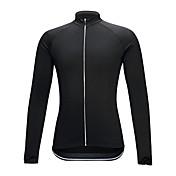 Maillot de Ciclismo Unisex Mangas largas Bicicleta Camiseta/Maillot Ropa de Compresión Ropa para Ciclismo Alta elasticidad Un Color Negro