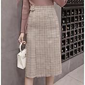 Mujer Midi Faldas,Falda Línea A
