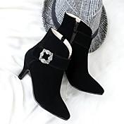 Mujer Zapatos Cuero Nobuck Otoño Invierno Confort Innovador Botas de Moda Botas hasta el Tobillo Botas Tacón Stiletto Dedo Puntiagudo