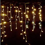 Impermeable 150 LED Luz de cadena 3x1M Blanco Cálido Decorativa Conectable Alimentación AC