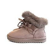 Mujer Zapatos PU Invierno Confort Botas de nieve Botas Dedo redondo Botines/Hasta el Tobillo para Casual Negro Caqui