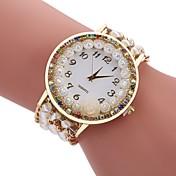 Mujer Reloj Casual Reloj de Moda Reloj Pulsera Chino Cuarzo La imitación de diamante Tejido Banda Casual Bohemio Negro Blanco Azul Rojo