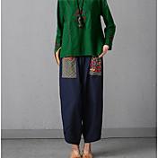 Mujer Boho Perneras anchas Pantalones - Flores/Botánica, Estampado