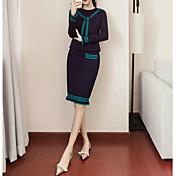 Mujer Conjunto - Un Color Falda