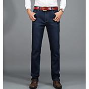 Hombre Básico Corte Recto / Vaqueros Pantalones - Un Color