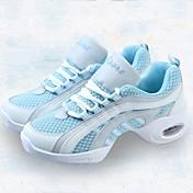 Mujer Zapatillas de Baile Tela / Tul Zapatilla Corte Tacón Bajo Personalizables Zapatos de baile Azul / Blanco