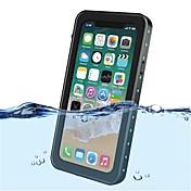 Funda Para Apple iPhone X Antigolpes Impermeable Traslúcido Funda de Cuerpo Entero Color sólido Dura El plastico para iPhone X