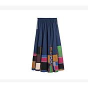 Mujer Básico Línea A Faldas Bloques