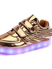 Para Meninos Tênis Inovador Tênis com LED Sintético Outono Inverno Casual Festas & Noite Social Colchete LED RasteiroDourado Prata Rosa