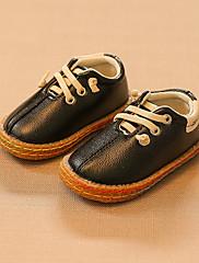 Para Meninas sapatos Couro Ecológico Outono Conforto Mocassins e Slip-Ons Para Casual Preto Bege Amarelo