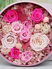 9 ブランチ ドライフラワー バラ テーブルトップフラワー 人工花
