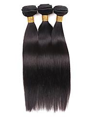 Cabelo Humano Cabelo Brasileiro Cabelo Humano Ondulado Liso Extensões de cabelo 1 Preto