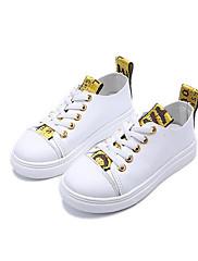 Para Meninas sapatos Courino Outono Inverno Conforto Tênis Para Casual Preto Amarelo Vermelho