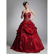 Balkjole Kæreste Gulvlang Taft Formel aften Kjole med Pick Up-kjole ved TS Couture®