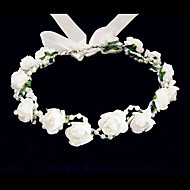 baratos -Cristal / Tecido / Espuma Tiaras / Flores com 1 Casamento / Ocasião Especial / Festa / Noite Capacete