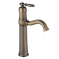 cheap Antique Brass Series-Antique Vessel Ceramic Valve One Hole Single Handle One Hole Antique Brass, Bathroom Sink Faucet