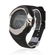 Masculino Relógio de Pulso Digital LCD Calendário Cronógrafo alarme Monitor de Batimento Cardíaco Borracha Banda Preta Preto/Cinzento