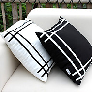 cheap Pillow Covers-1 pcs Silk Pillow Cover, Plaid Modern/Contemporary Office/Business