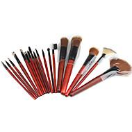 Conjunto de Pincéis de Maquilhagem Profissional com Bolsa em Pele (18 Peças)