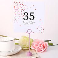 paikka kortit ja haltijoille henkilökohtaisen neliön pöytä numero kortti - flower rain