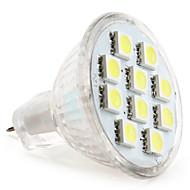 billige Spotlys med LED-1W 50-80lm GU4(MR11) LED-spotpærer MR11 10 LED perler SMD 5050 Naturlig hvit 12V