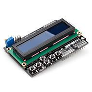 16 x 2 lcd escudo teclado para (para arduino) uno mega-duemilanove