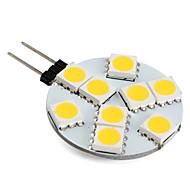 1w g4 led bi-broches lumières 9 smd 5050 100lm blanc chaud 2800k