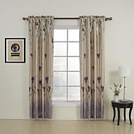 Dois Painéis Tratamento janela Regional , Estampado Quarto Poliéster Material Cortinas cortinas Decoração para casa