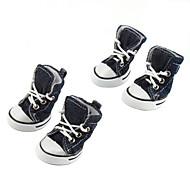 preiswerte Bekleidung & Accessoires für Katzen-Lässige Denim Schuhe für Hunde (XS-XL, verschiedene Farben)