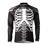 SPAKCT Muškarci Dugih rukava Biciklistička majica - Crno bijela  / Lubanje Bicikl Biciklistička majica, Ugrijati, Quick dry, Ultraviolet