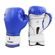 Leder volle Finger Profi-Boxhandschuhe (mittlere Größe)