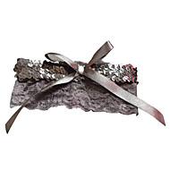 levne -polyester krajka svatební podvazky s flitry svatební accessoriesclassic elegantní styl