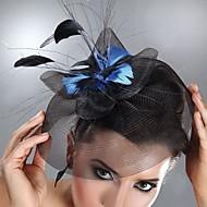 Tyl / Peří Fascinátory / Doplňky do vlasů s Květiny 1ks Svatební / Zvláštní příležitosti Přílba