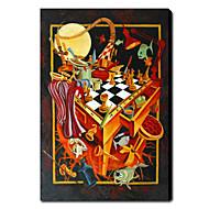 Χαμηλού Κόστους Artist - Tim Xin-Ζωγραφισμένα στο χέρι Αφηρημένο Κάθετο Καμβάς Hang-ζωγραφισμένα ελαιογραφία Αρχική Διακόσμηση Μονόπτυχα