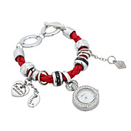 cheap Watches-Women's Fashion Watch Chinese Tile Other Fabric Band Bracelet Watch Black White Red